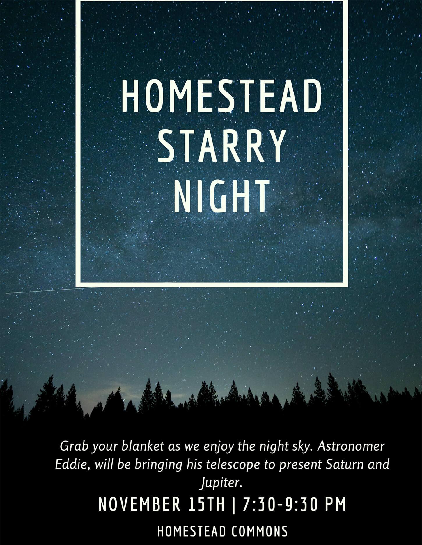 Homestead Starry Night